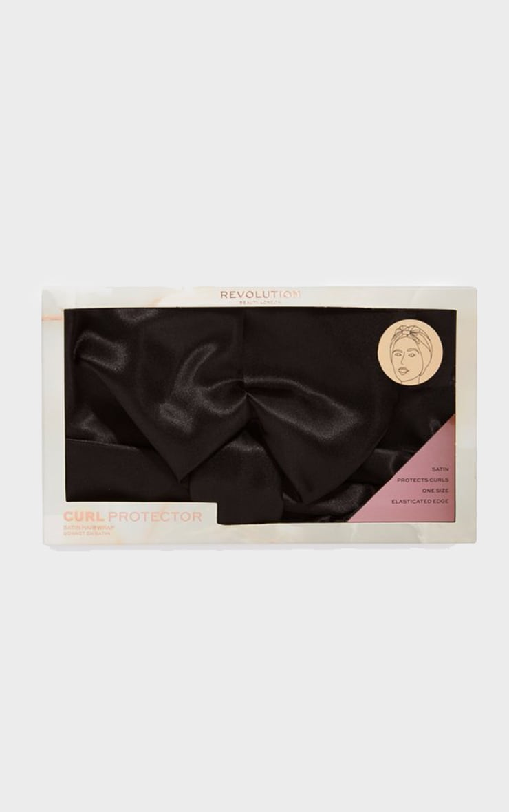 Revolution Haircare Satin Hair Wrap Black 1