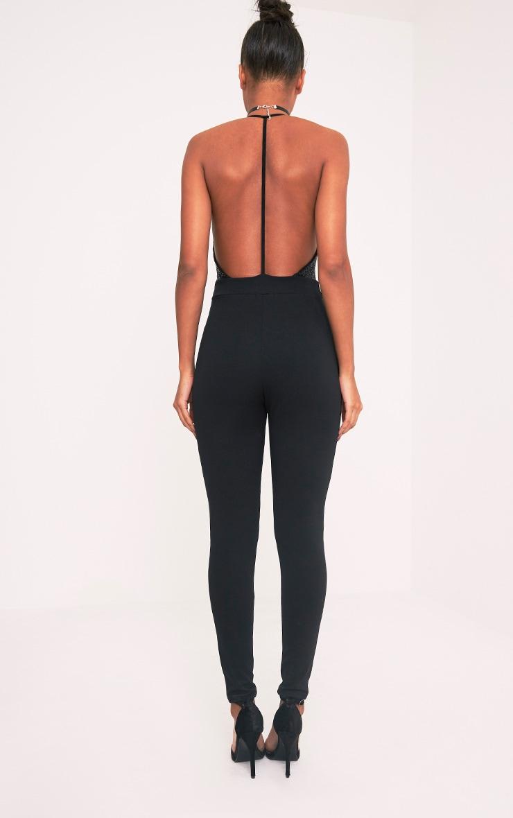 Telisa Black Sequin Top Jumpsuit 2