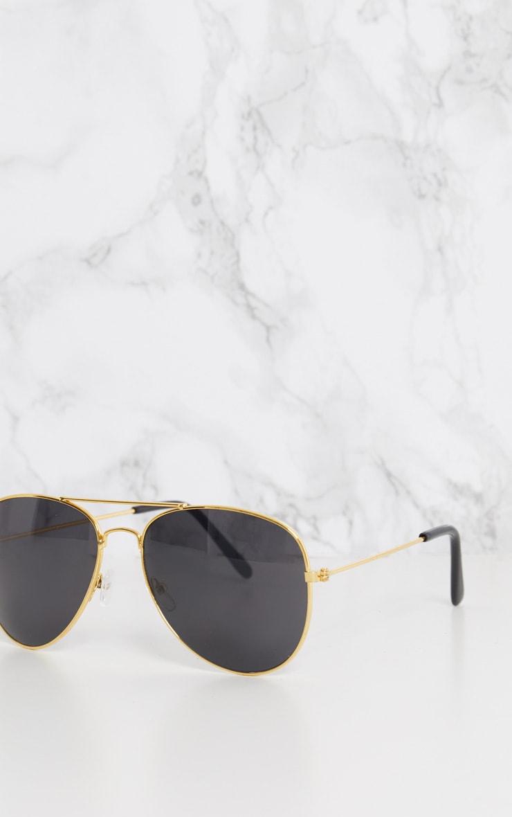 Gold Metal Aviator Sunglasses 6