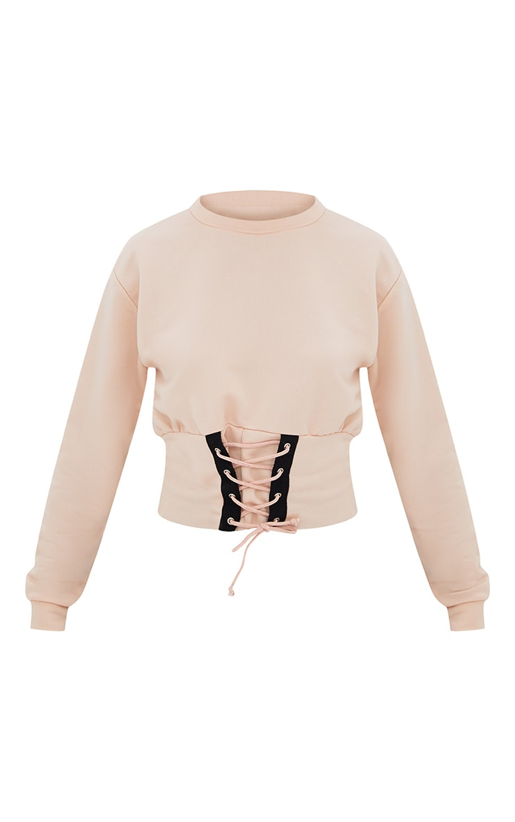 Petite Nude Corset Detail Sweater 3