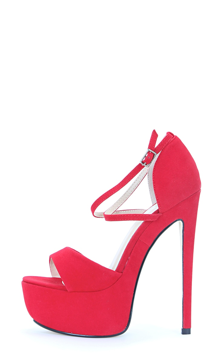 Tori Red Strappy Stilettos 1