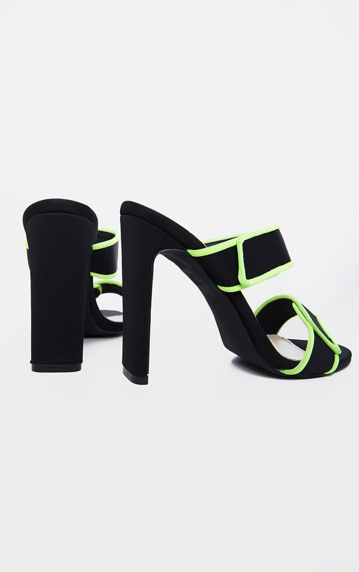 Black Sporty Twin Strap Mule 4