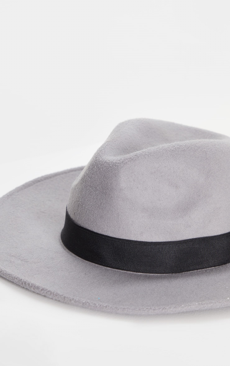 Grey Fedora Hat 3