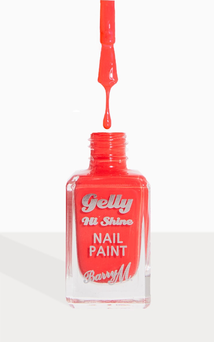 Barry M Gelly Hi Shine Nail Paint Passion Fruit 1