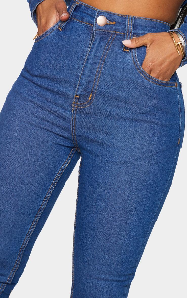 Shape Mid Blue Wash High Waist Skinny Jeans 4