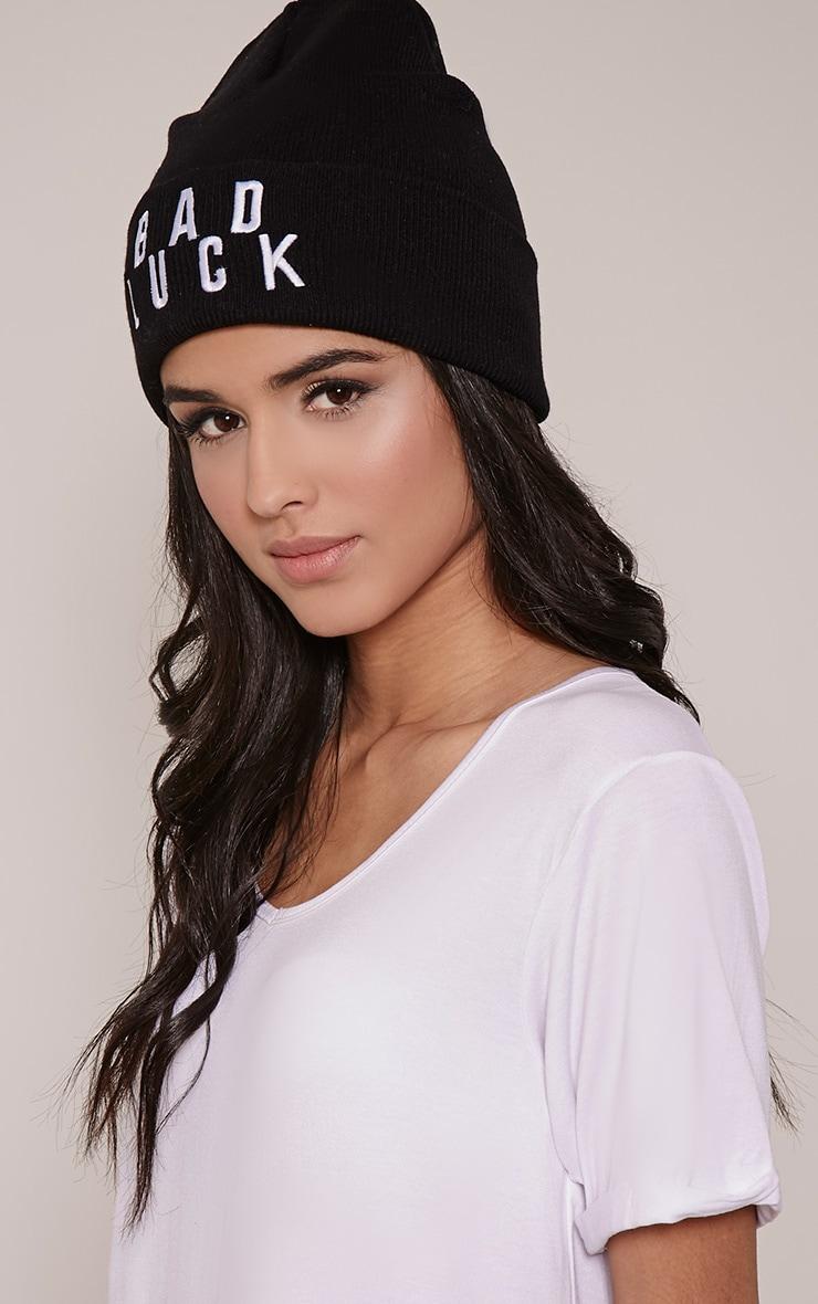 Bad Luck Black Beanie Hat 4