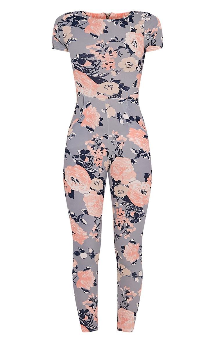 Rachel Blue Floral Printed Jumpsuit 3
