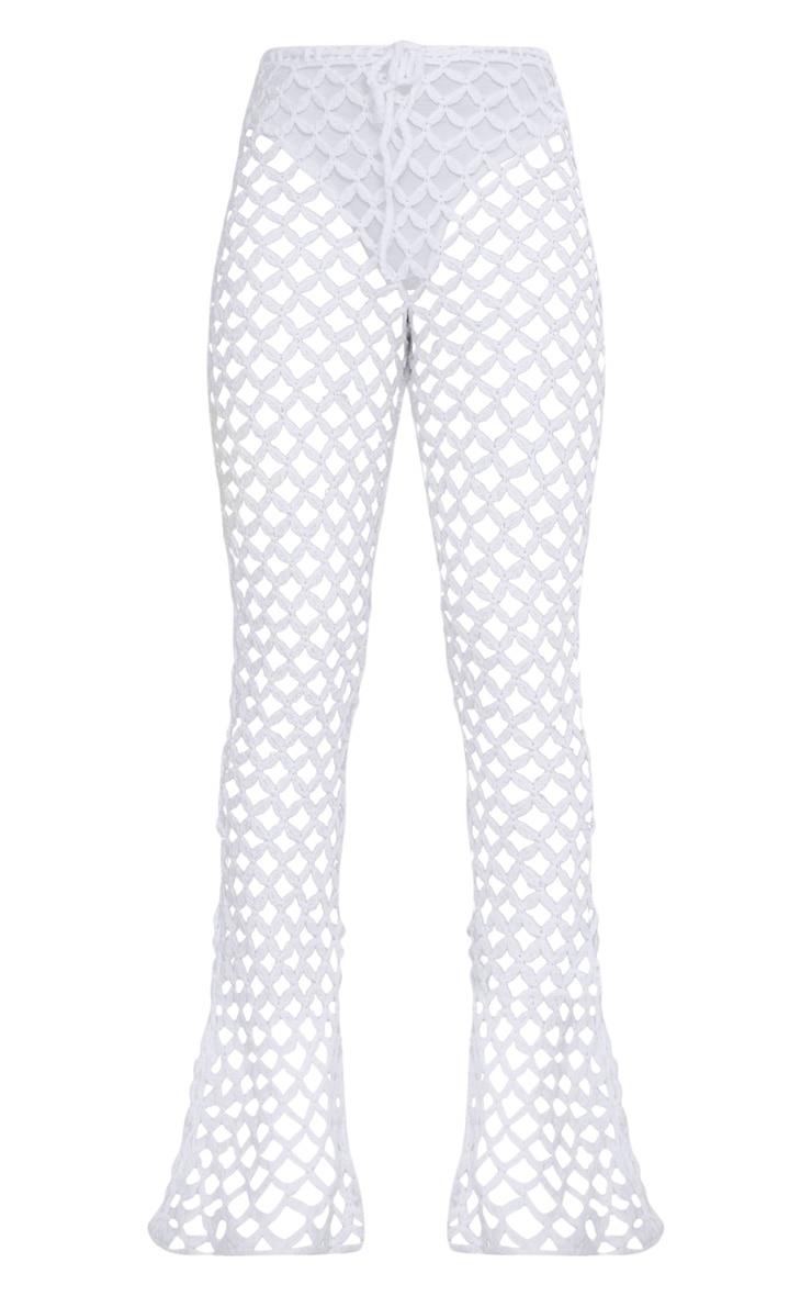 White Crochet Flares 3