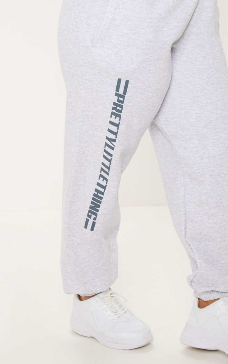 PRETTYLITTLETHING Plus Grey Casual joggers 5