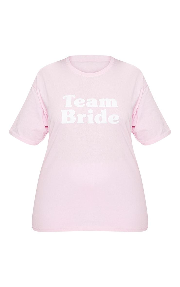 Plus Baby Pink Team Bride Slogan T Shirt 3