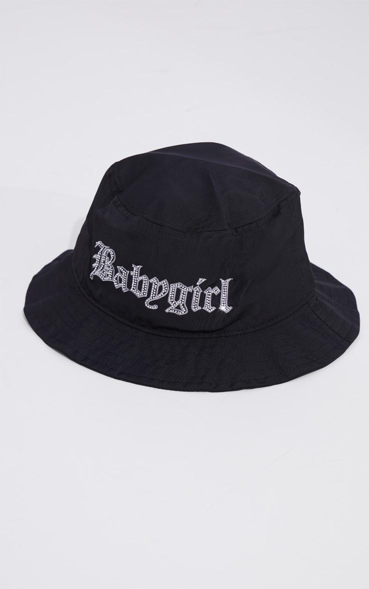 Black Babygirl Diamante Bucket Hat 2