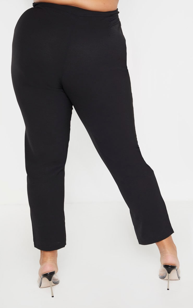 Plus Black Tailored Pants 4