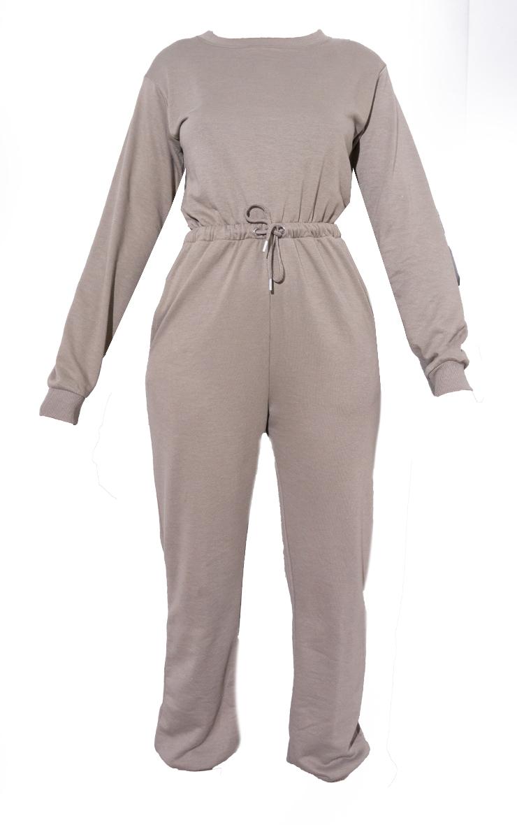 RENEW Light Khaki Long Sleeve Sweat Jumpsuit 5