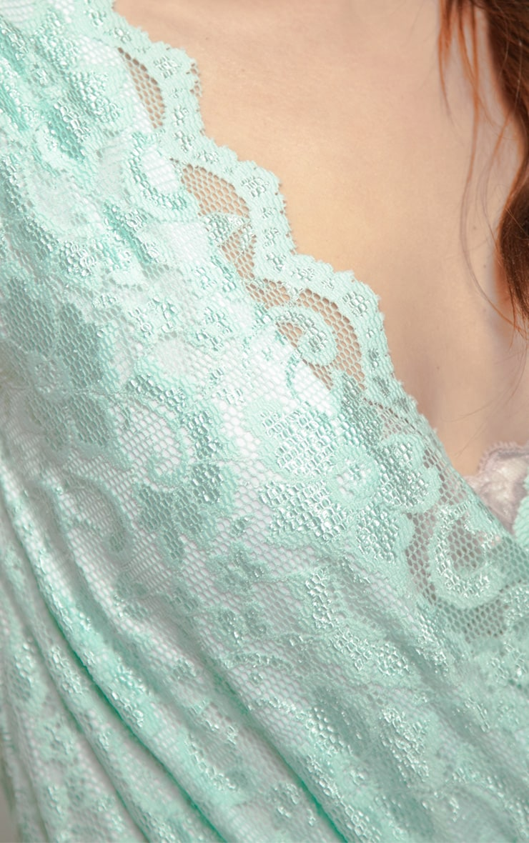 Leila Mint Lace Playsuit 4