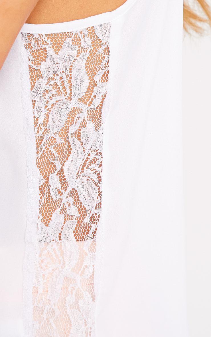 Nadiya White Lace Insert Swing Cami  4