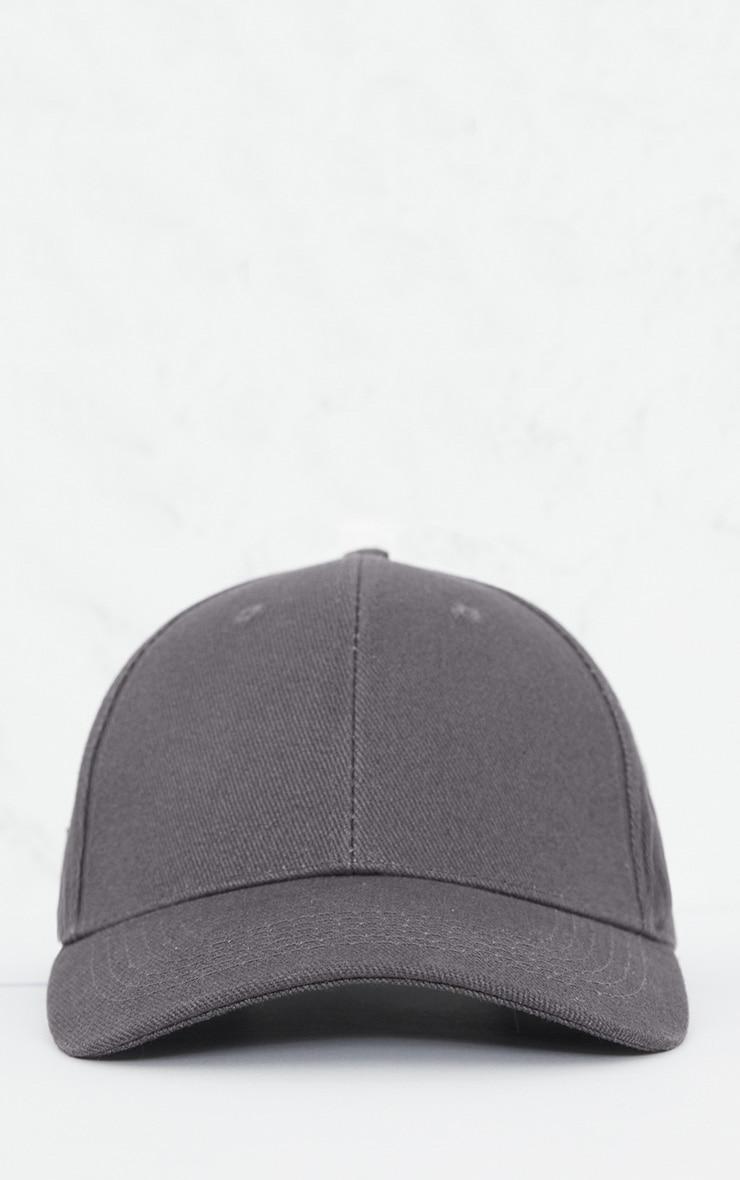 Charcoal Woven Baseball Cap 3