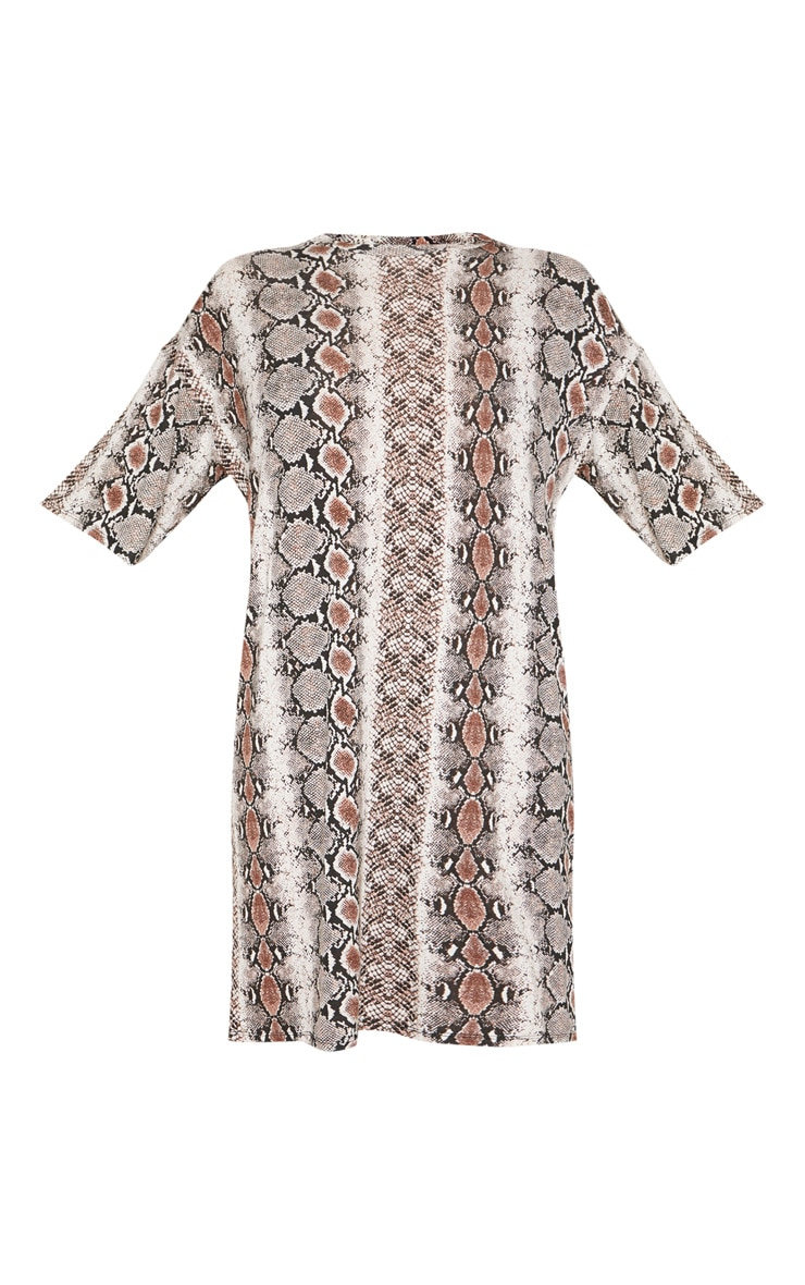 Tall Snake Print Oversized T-Shirt Dress 3