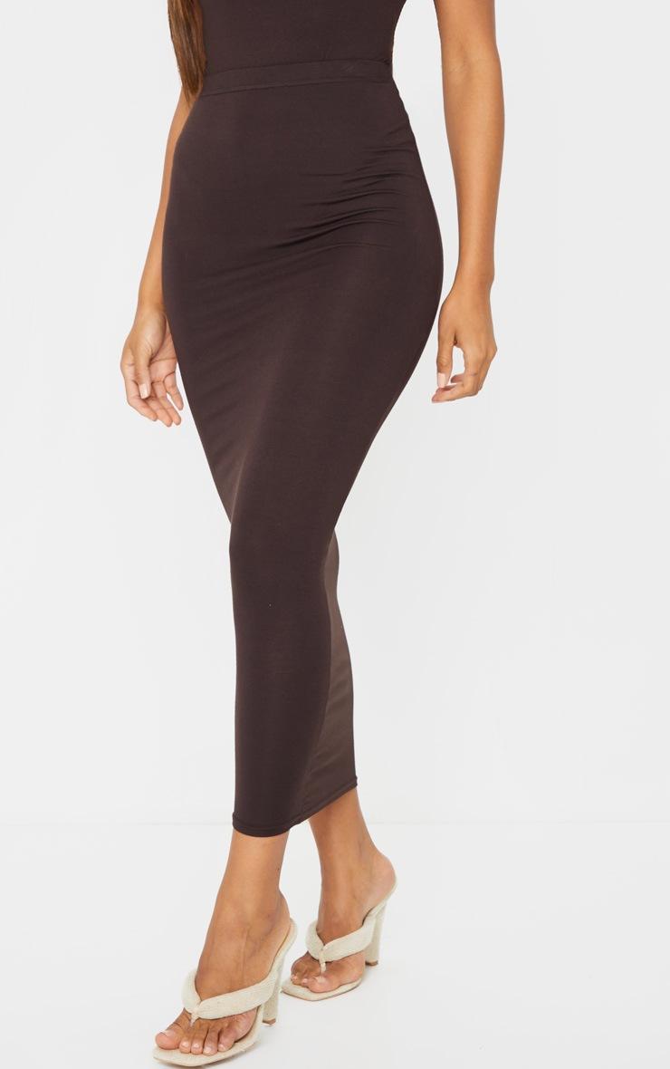 Chocolate Basic Midaxi Skirt 2