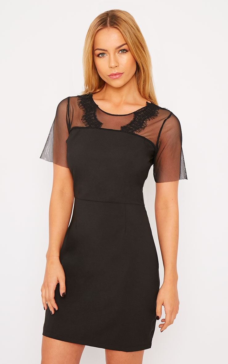 Lynae Black Lace Panel Dress 1