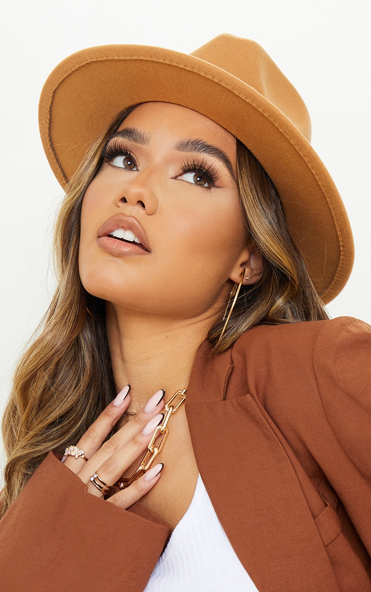 Tan Fedora Hat 1