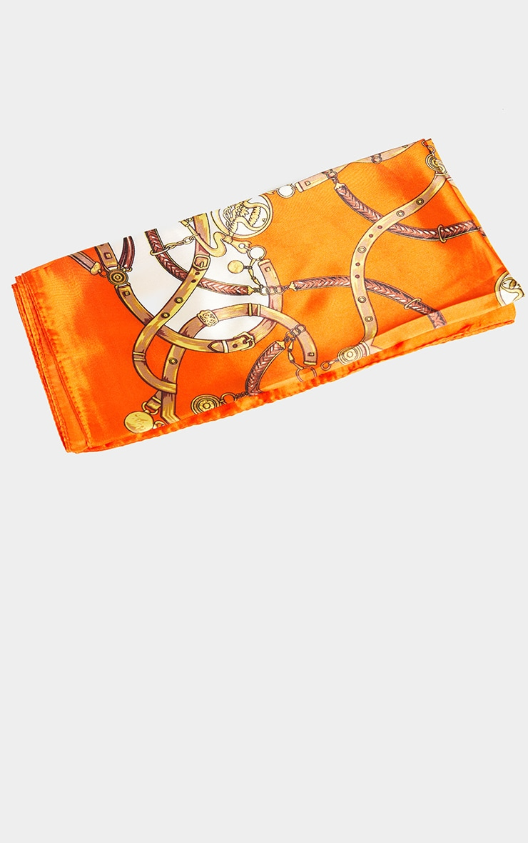 Orange Chain Print Bandana 3