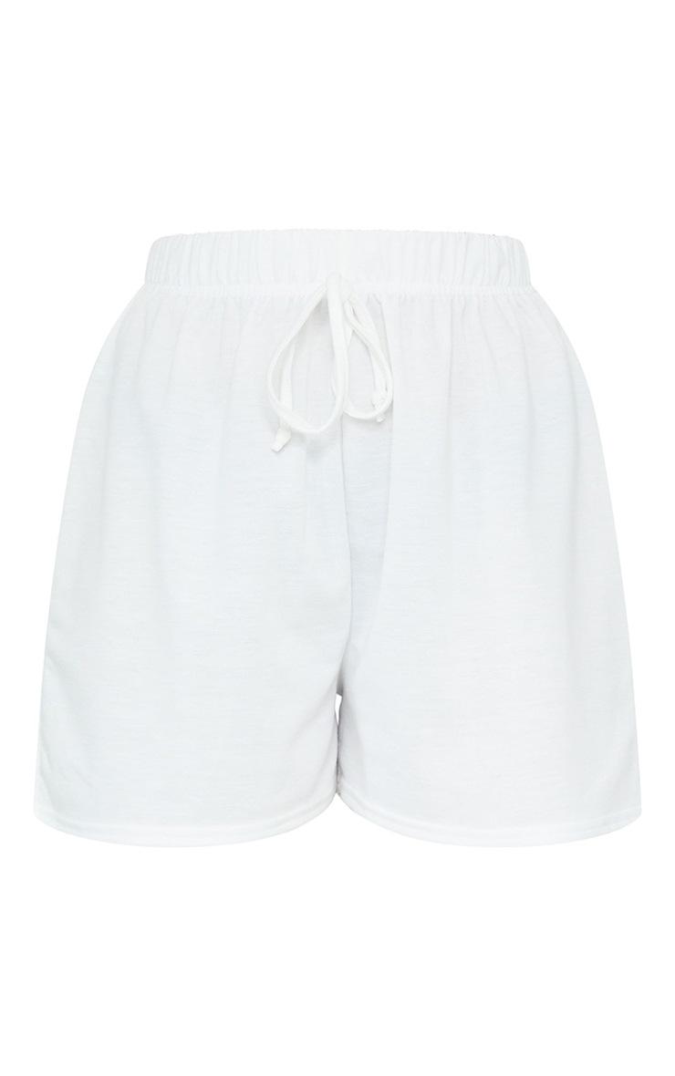 Petite Cream Tie Waist Shorts 6