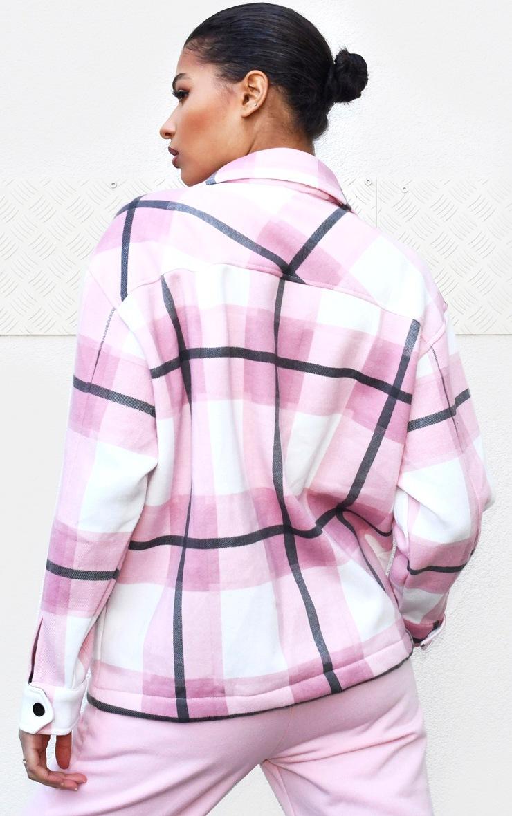 Pink Checked Pocket Front Shacket 2