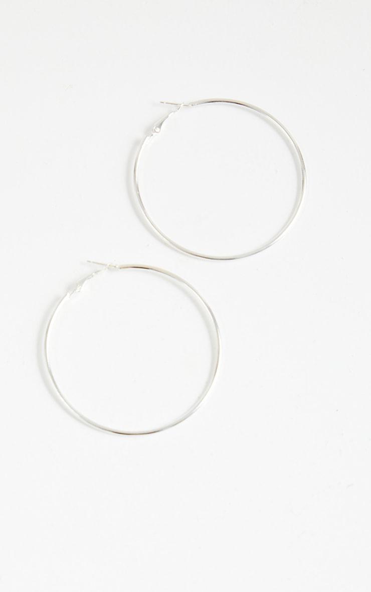 Silver Hoop Earrings 2