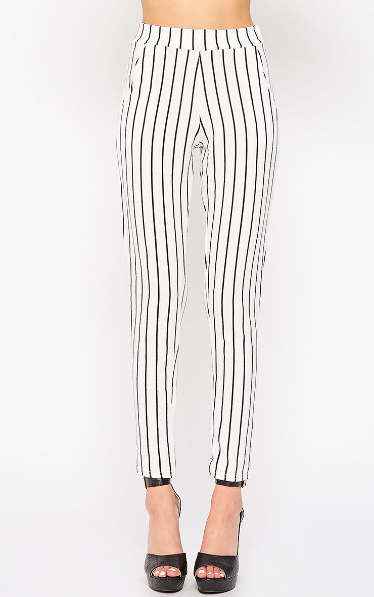 Jakoba Cream Pinstripe Pants 2