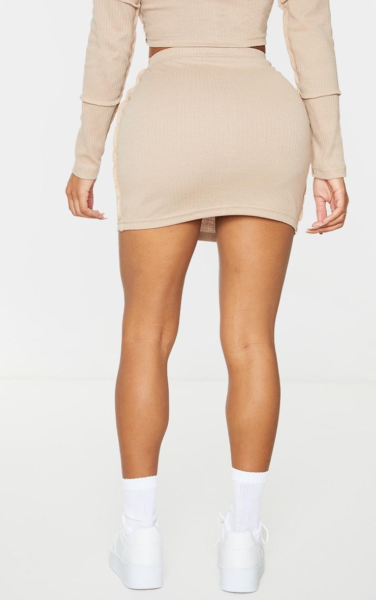Shape Stone Rib Panel Bodycon Skirt 3