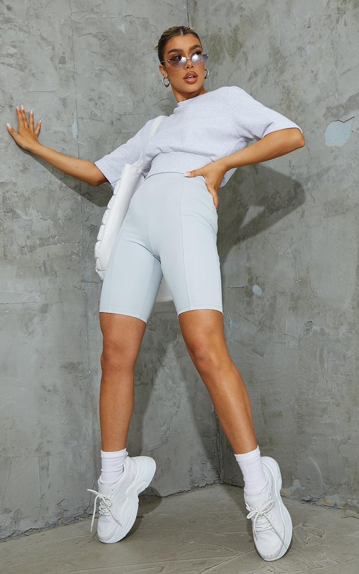 Grey Stretch Scuba Bike Shorts
