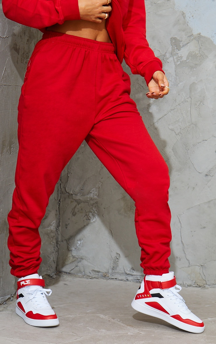 Red Sweat Pant Joggers 2