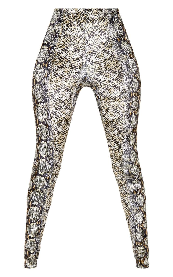 Snake Velvet Printed Leggings 3