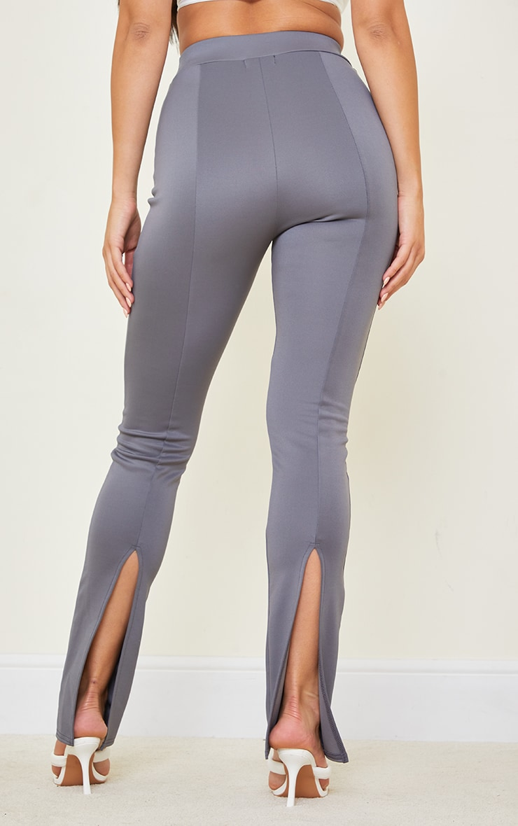 Tall Grey Back Split Hem Pants 3