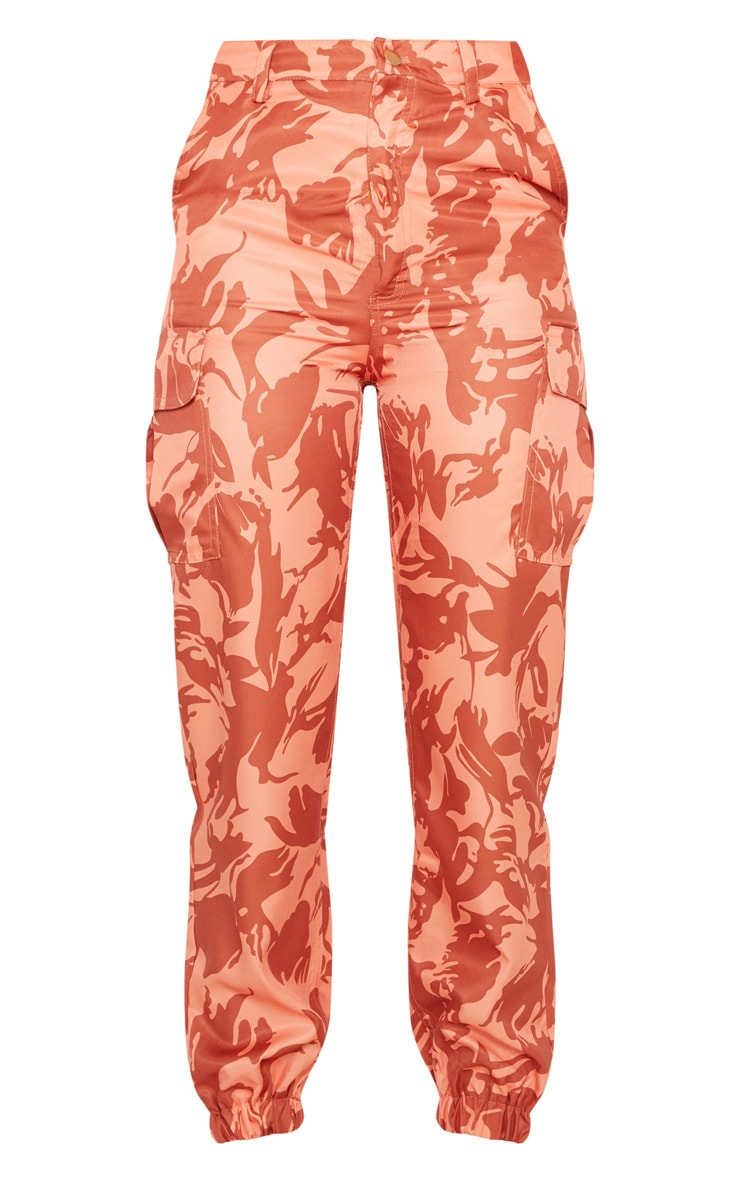 Orange Camo Pocket Detail Cargo Trouser 3