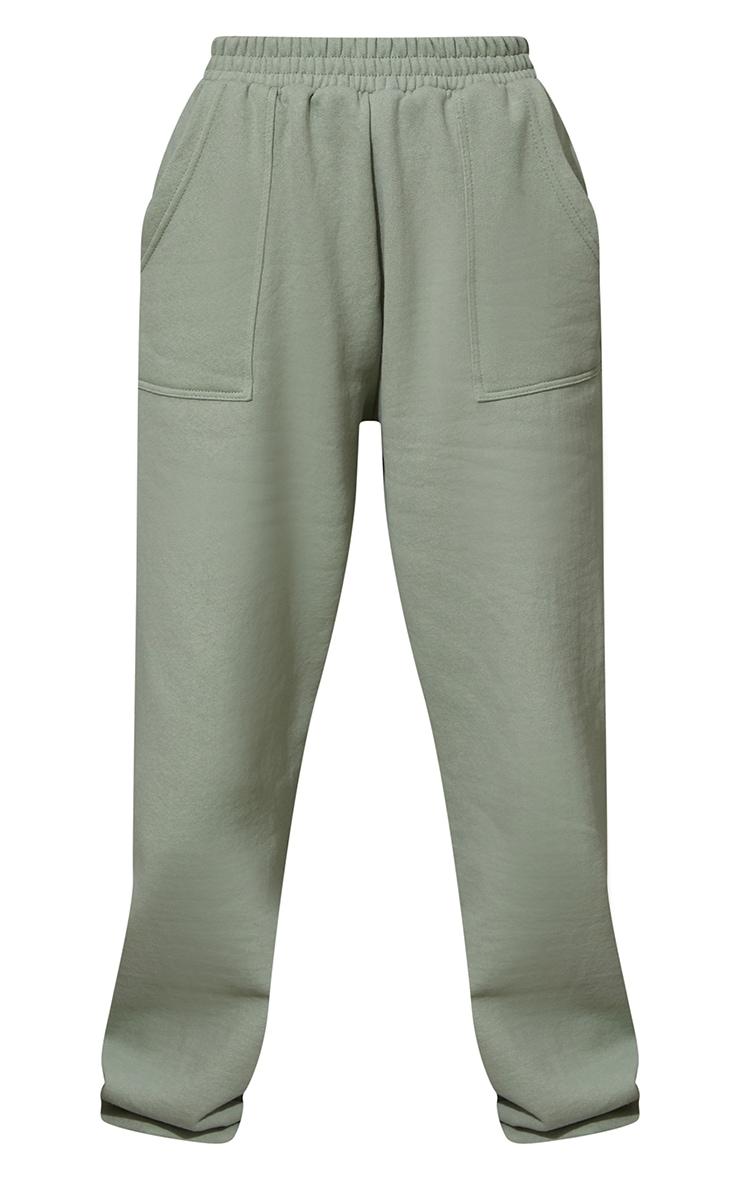 Sage Green Pocket Cuffed Joggers 5
