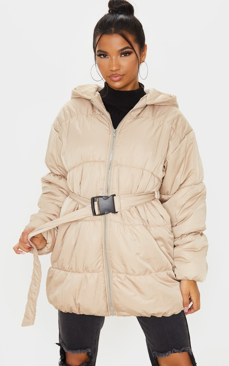Stone Belted Puffer Jacket 1