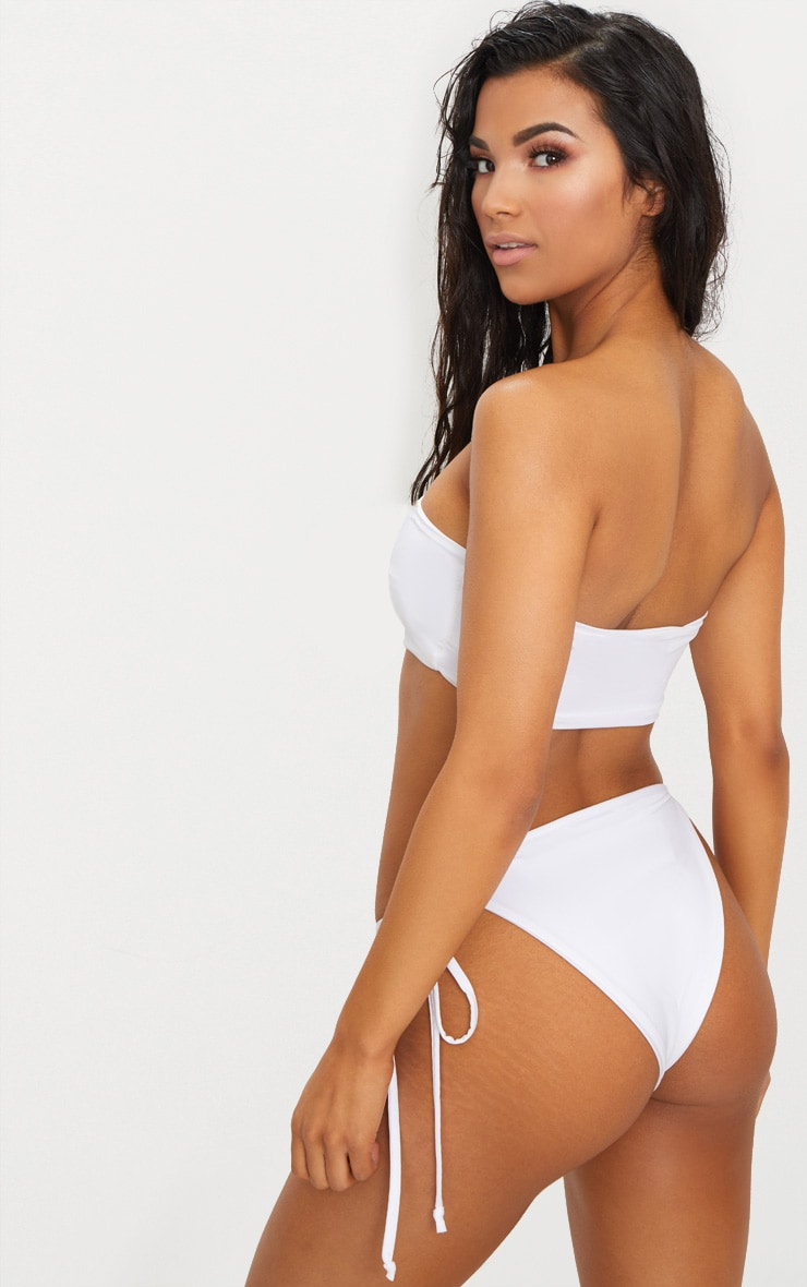 White Mix & Match Bandeau Bikini Top 3