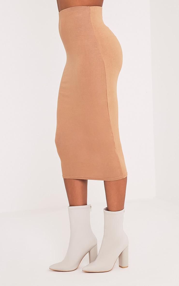 Basic Camel Longline Midi Skirt 4