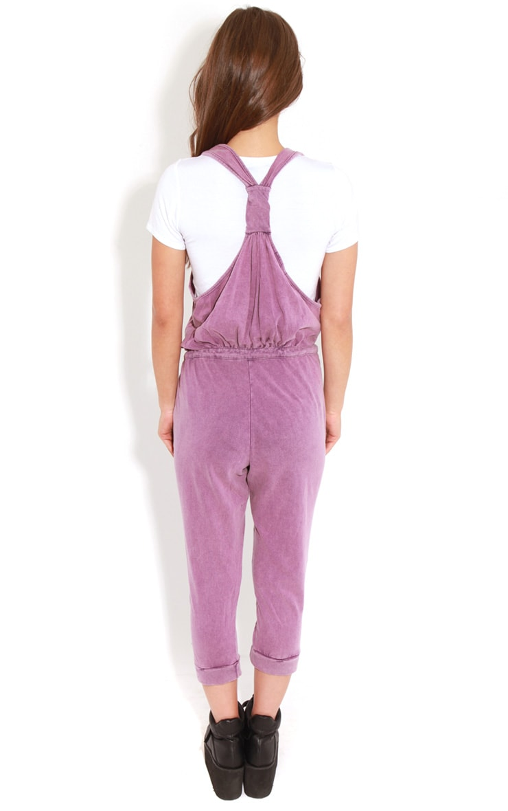 Bianca Purple Drawstring Jumpsuit 2