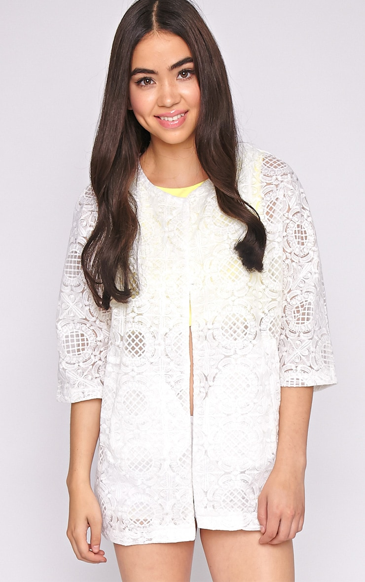 Lottie White Embroidered Jacket 1