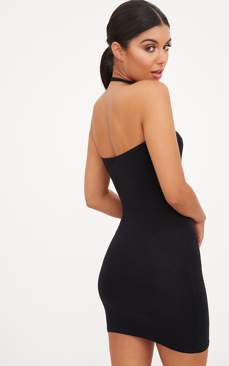 Black Jersey Bandeau Bodycon Dress 2