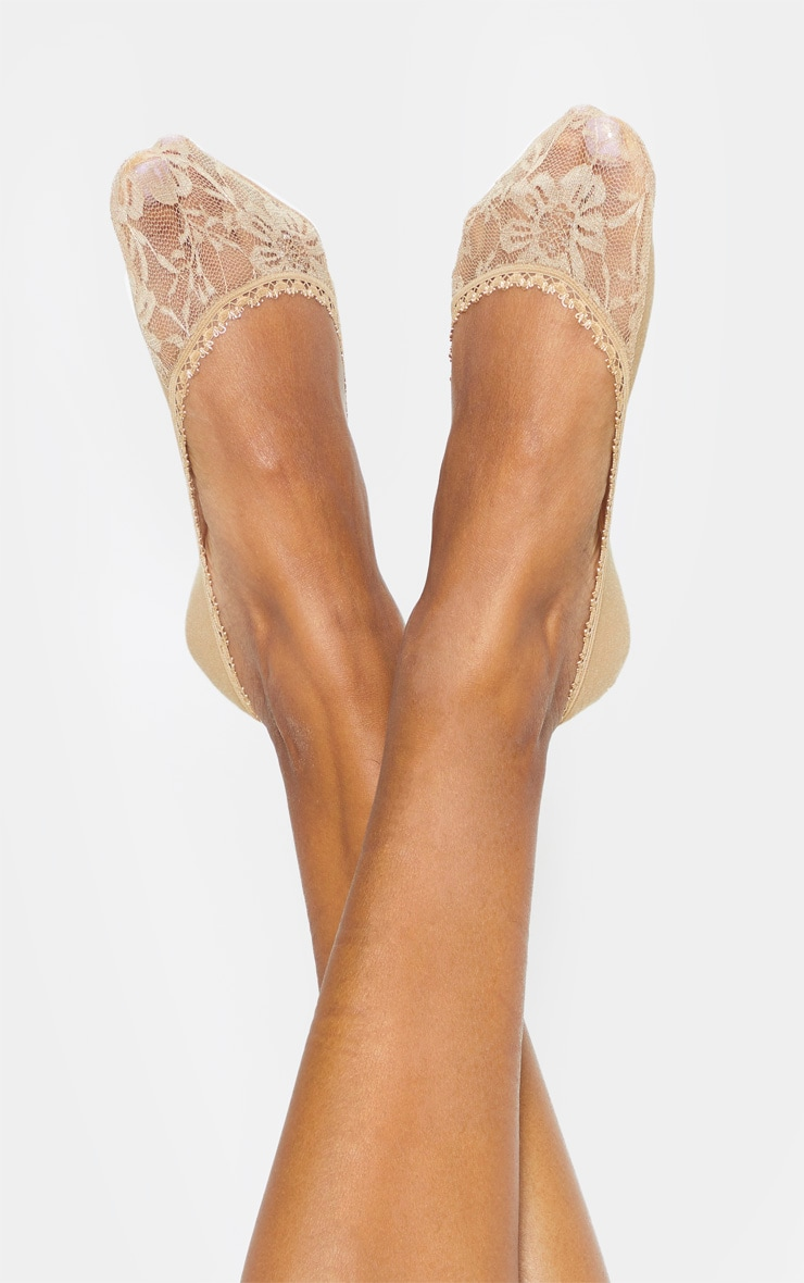 Nude Three Pack Secret Socks 3