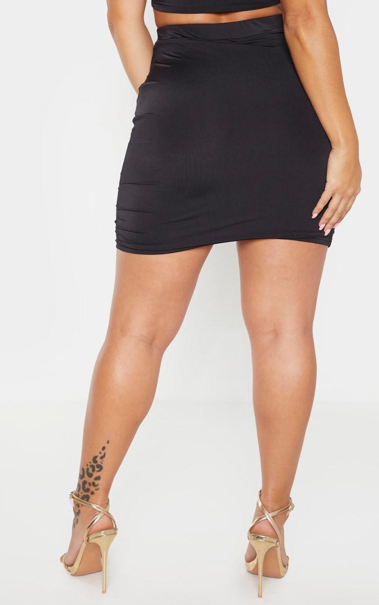 Shape Black Ruched Front Mini Skirt 3