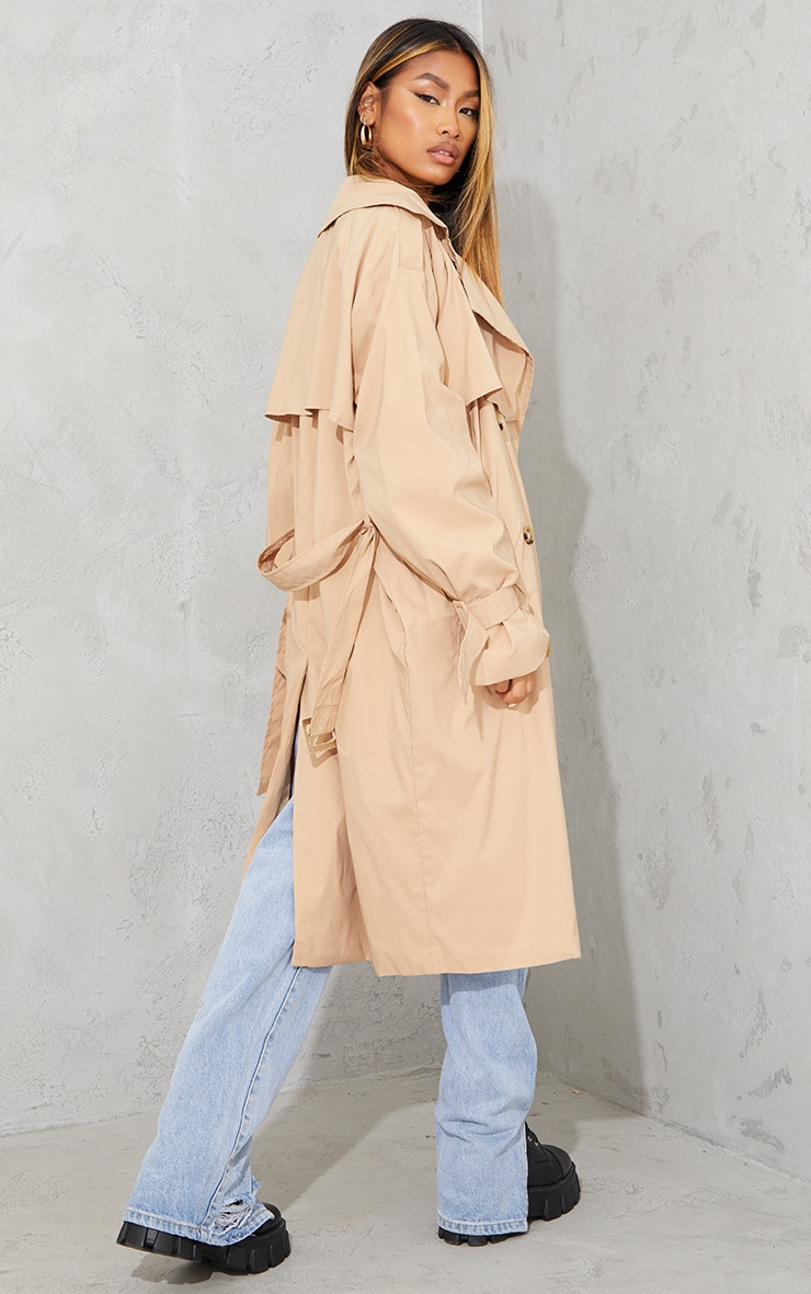 Camel Oversized Belted Midi Trench 2