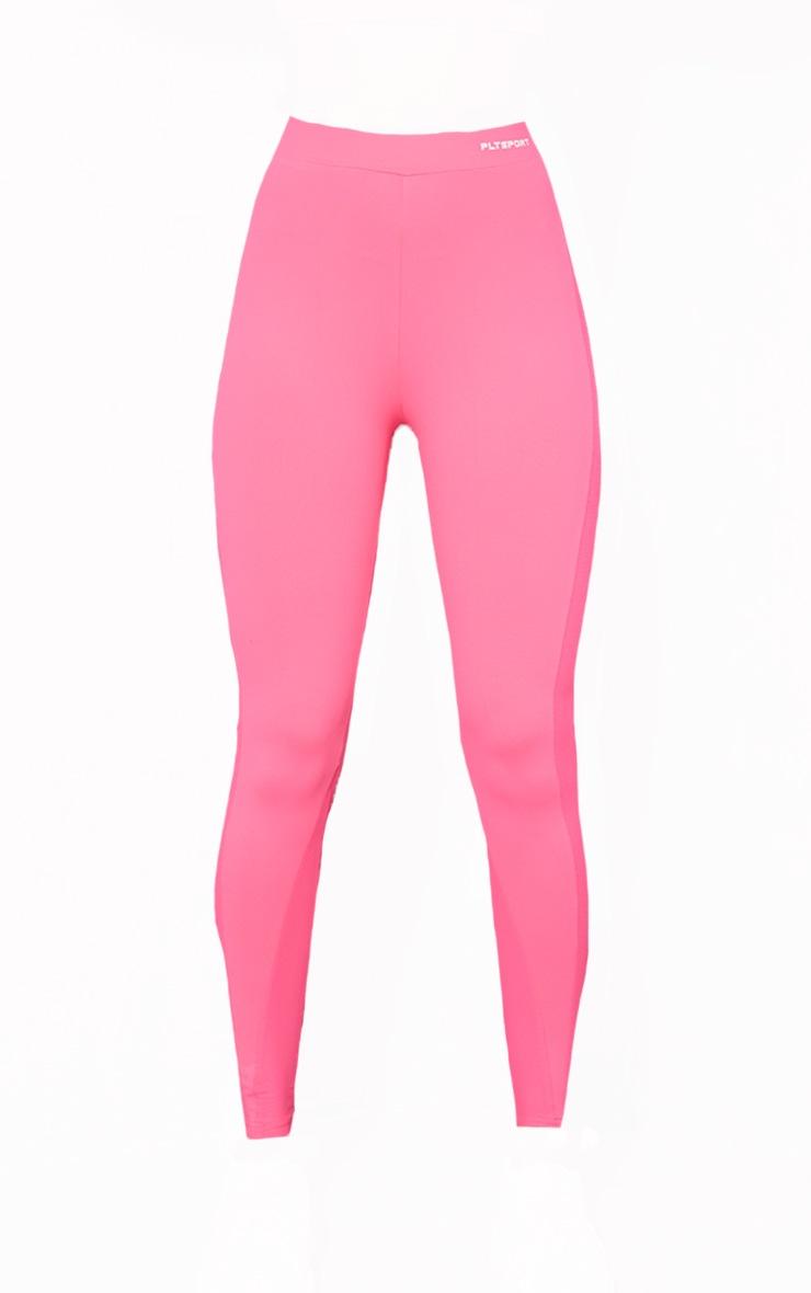 Hot Pink Sculpt Luxe High Waist Mesh Side Gym Leggings 5