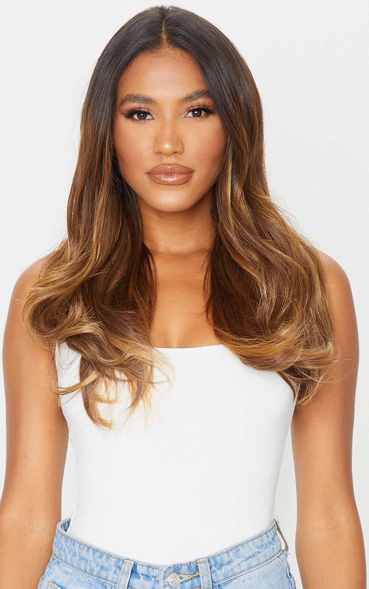 LullaBellz Super Thick 16'5 Piece Blow Dry Wavy Clip In Hair Extensions Blondette 3