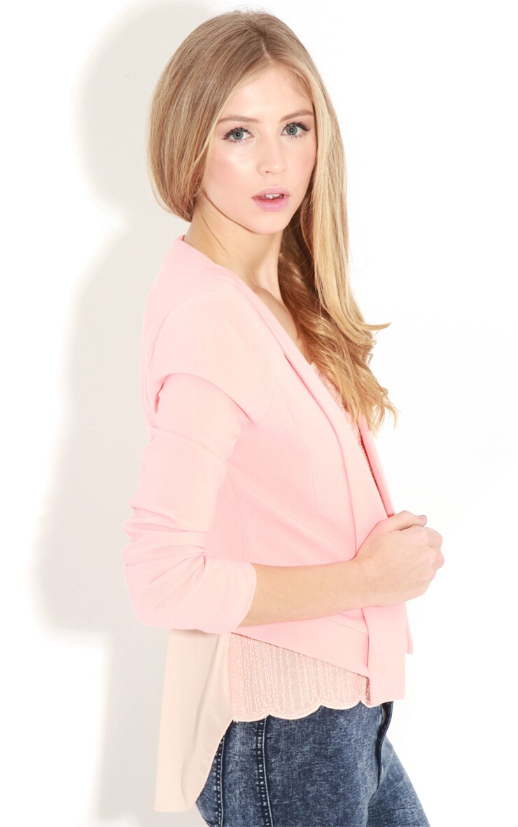 Eadie Coral Cropped Blazer 4