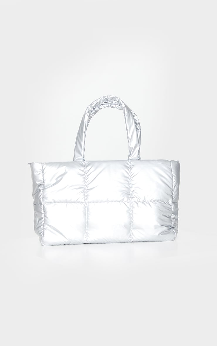 Silver Padded Tote Bag 1