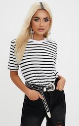 Black Stripe T Shirt 1